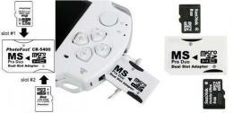 Adapter MS PRO DUO 2x Micro SDHC DUAL SLOT